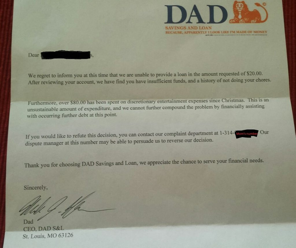 The father's letter to his son has gone viral since it was posted on Reddit.