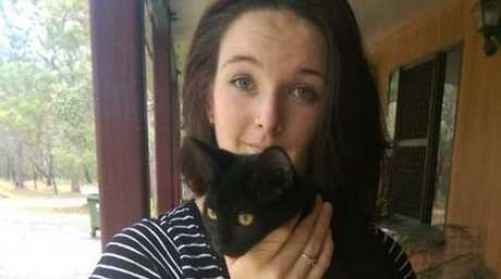 SNAKE ATTACK: Aleesha Harris, 18, saved her kitten Jade from a three metre python. Contributed.