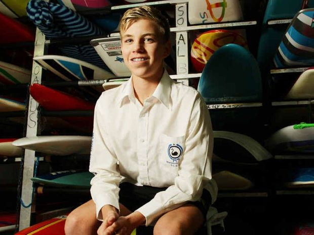 TRAGIC LOSS: The State Coroner has found that Matthew Barclay, 14, may have been knocked unconscious when he was dumped on to a sandbank in heavy surf during a Gold Coast surf lifesaving competition.