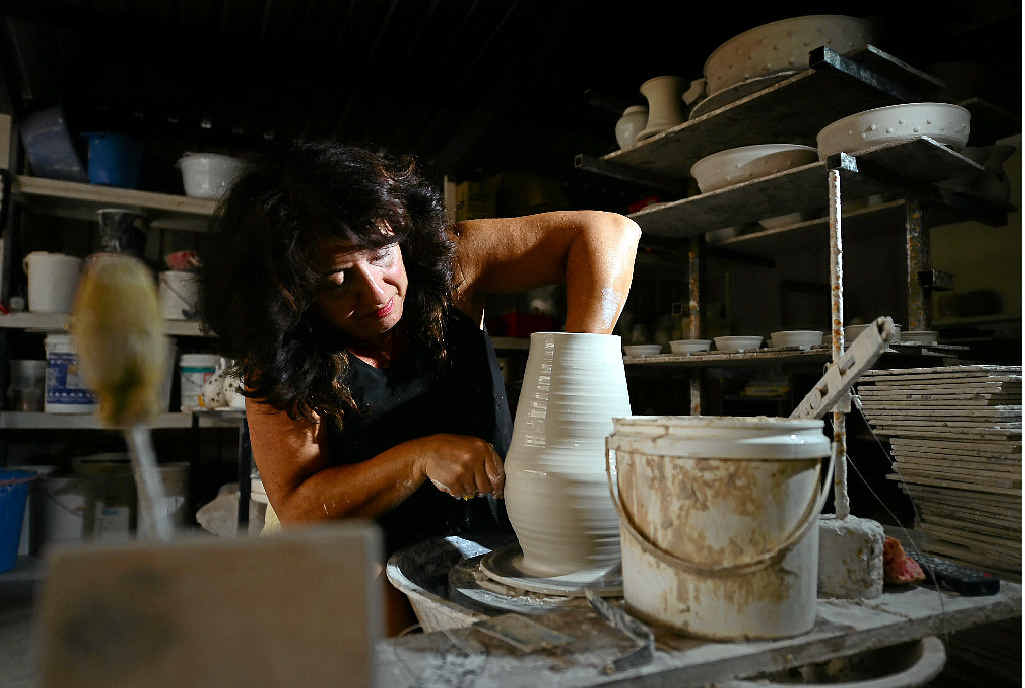 INNOVATION: Potter Kiki loves testing new shapes and designs on the market.