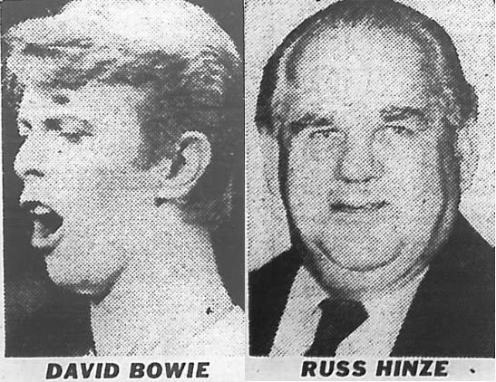 David Bowie & Russ Hinze