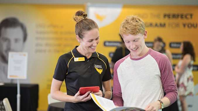 USQ staff member Melinda Edwards answers Jordan's questions about studying at USQ.