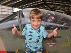 Aidan Harland, 7 at the Air Museum in Caloundra. Photo: John McCutcheon / Sunshine Coast Daily