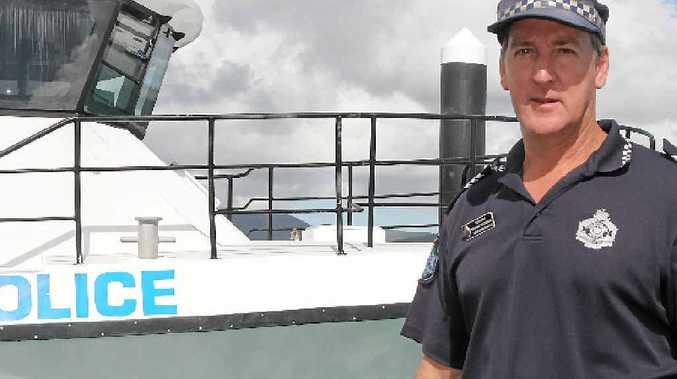 MARINE OPERATION: Sargent Graeme Pettigrew of the Whitsunday Police.