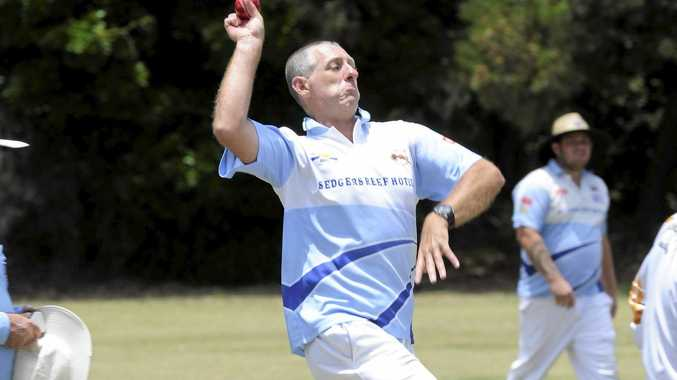 Iluka bowler Dave Cowan during the LCCA 1st grade cricket match between Wanderers and Iluka at the Ken Leesaon Oval in Iluka on Saturday, 9th January, 2016.  Photo Debrah Novak / The Daily Examiner