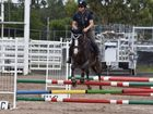 Teneille Ubank on Mt Robinsons Statement during Saturday's showjumping event in Warwick.