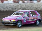 Brooke Etherdenin a Junior Sedan heat at the Rocky Speedway meet on Saturday evening. Photo: Chris Ison / The Morning Bulletin