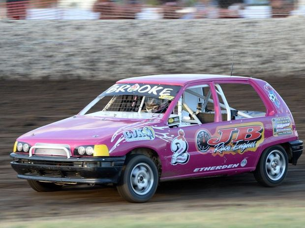 Year Old Rocky Driver Brooke Proves Pink Goes Faster