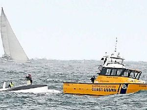 Sailors rescued after their yacht capsizes