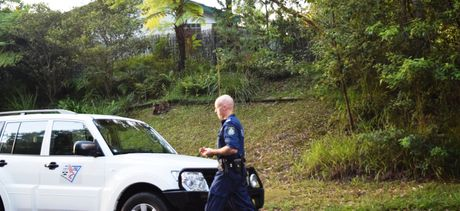 Forensic police examine bushland off Donn Paterson Drive following Thursday night's incident where a  16-year-old female was forced into a car by a man.