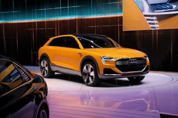ZERO EMISSIONS: Audi presented its stunning-looking hydrogen drivetrain concept h-tron quattro, promising a refuelling time of just four minutes