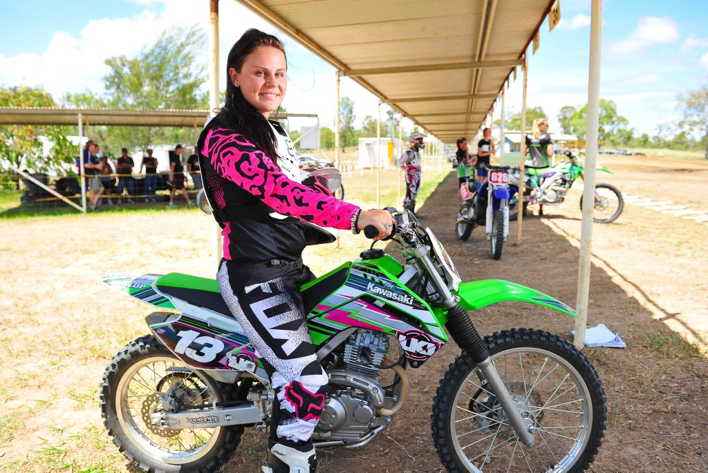 Brooke Revell at the Dirt Bike track Ladies day. Photo Mike Richards / The Observer