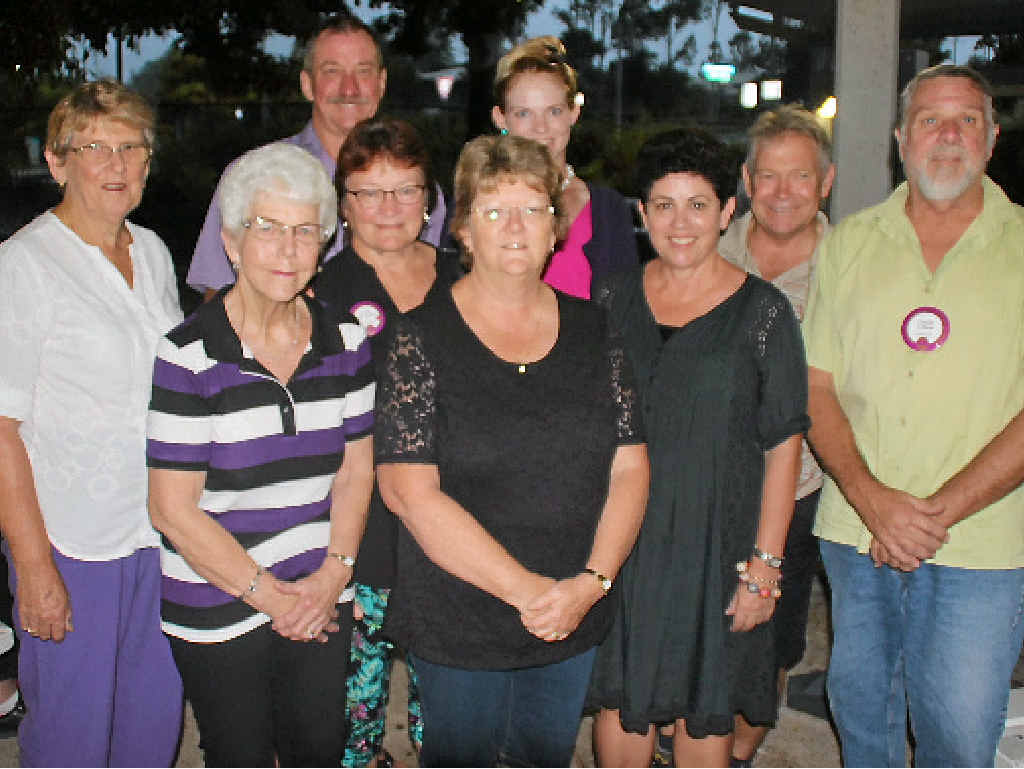 HELPING HANDS: Gympie region's three Lions clubs joined with the Older Women's Network to hear the good news about their help for outback farmers. Pictured are (back) Gary Albreck and Krystle Johnston and (front) Lyn Day, June Idle, Elain Walker, Joan Albreck, Deanne Jones, Clyde Jones and Colin Ross.