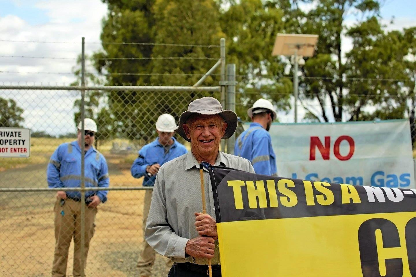 Santos coal seam gas mining operation at Pilliga, North West NSW.