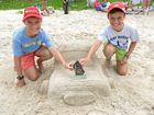Young and old join forces in sand modelling competition