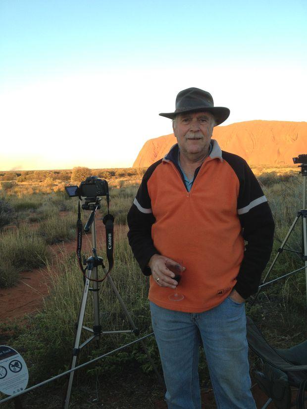 Brian Machin at Uluru