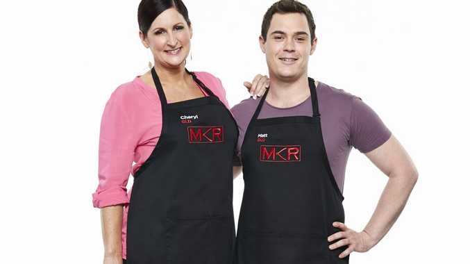 My Kitchen Rules contestants Cheryl and Matt from Brisbane.