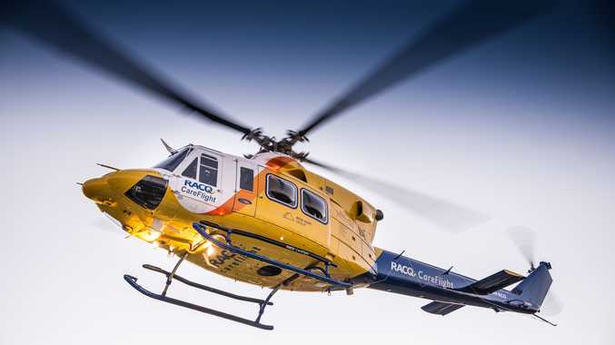 A dirt bike rider was airlifted to Toowoomba Hospital.