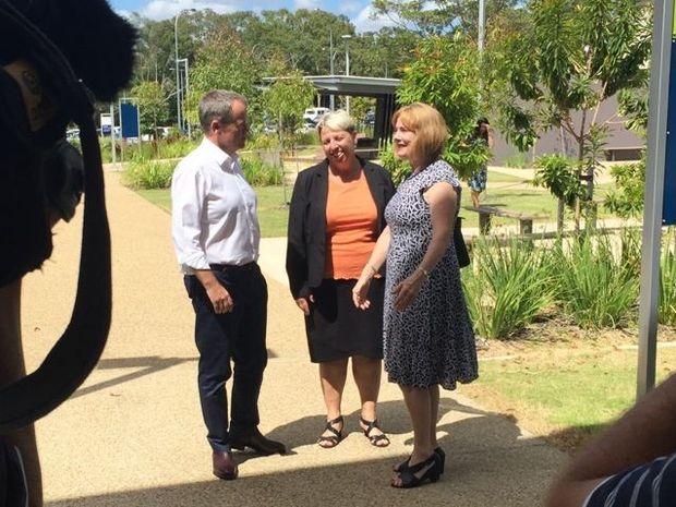 Opposition Leader Bill Shorten with Capricornia ALP candidate Leisa Neaton