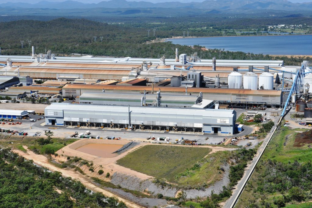 Aerials of Boyne Smelter Limited (BSL) from early 2013, company preferred images. Photo Contributed