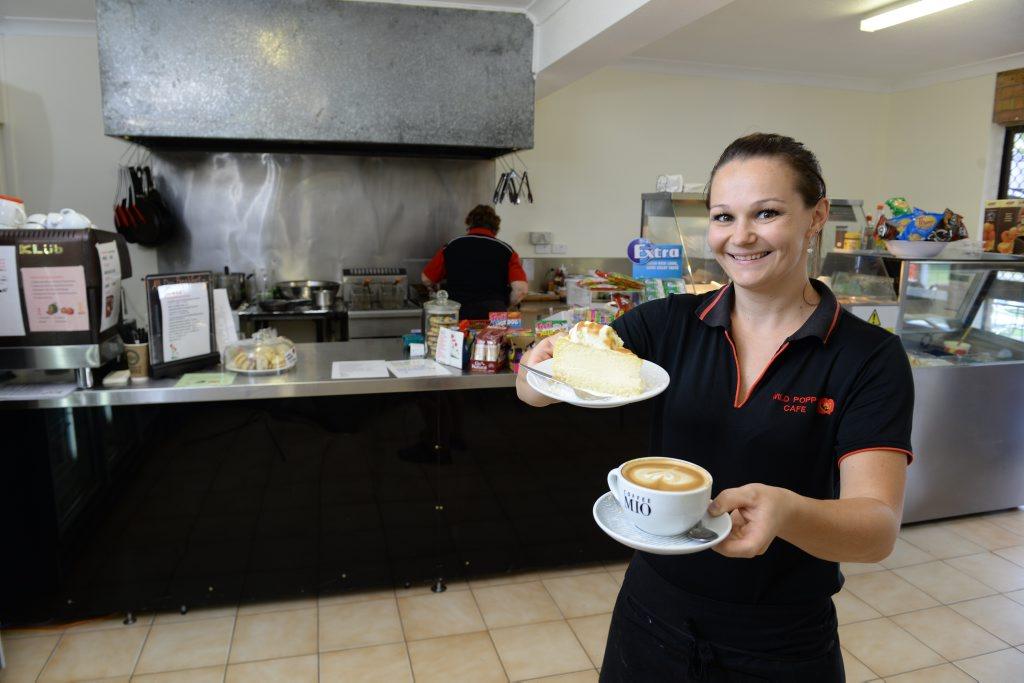 Wild Poppy Cafe chef/barista Detta McCartan is enjoying the new Ripley location. Photo: Rob Williams / The Queensland Times