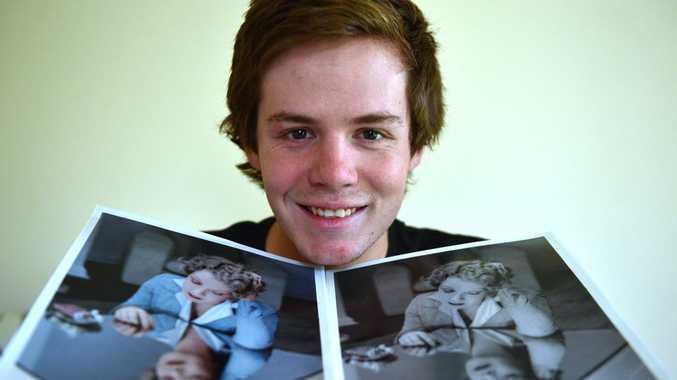 Grant Morris restores colur to photographs. Photo: John McCutcheon / Sunshine Coast Daily