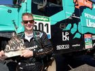 Driver Gerard De Rooy with the coveted Dakar trophy, it's the second Dakar win for the Dutchman. Photo Contributed