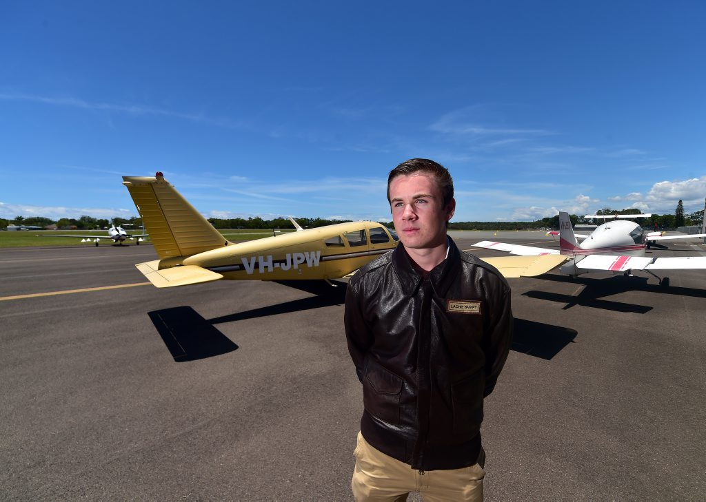 Nambour teenager Lachlan Smart is preparing to be the youngest person to fly solo around the world in a single engine aircraft.