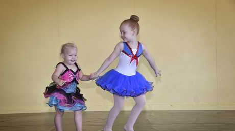 Dance Force has opened in St Stephen's Hall, Annand Street. Peyton Cowpe-Pendleton just wants to dance like her big sister, Lilyana Photo Bev Lacey / The Chronicle