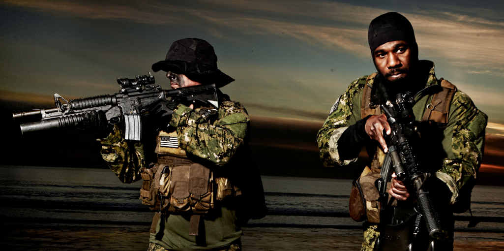 US Navy SEALs in action.