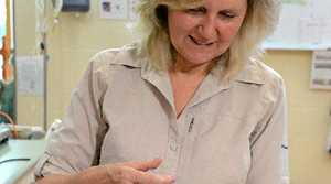 BREAKTHROUGH: Dr Rosie Booth, Australia Zoo Wildlife Hospital Director, administers the vaccine to Flann the koala.