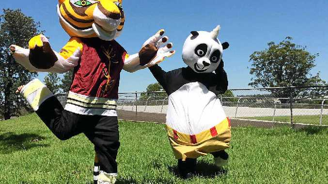 PARTY ANIMALS: Tigress and Kung Fu Panda are two of more than 32 characters available for events.