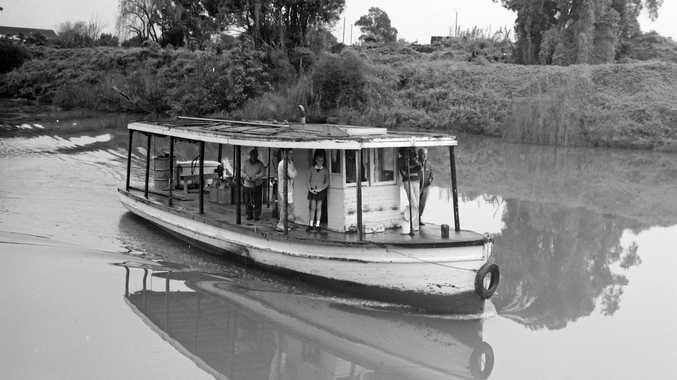 The Coraki to Lismore cream boat on its final run in 1973.