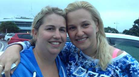 Melbourne friends Lauren Smith and Tea Blagojevic were rescued from the burning vessel. Photo / Belinda Feek