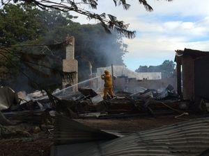 Fire fighters battle blazes at homes at Casino, Tintenbar