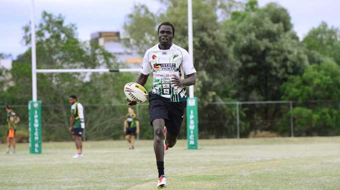 Ipswich Jets new recruit and speedster Chol Chol. Photo: David Nielsen / The Queensland Times