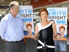 Pauline Hanson and One Nation Wright candidate Rod Smith. Photo: Rob Williams / The Queensland Times