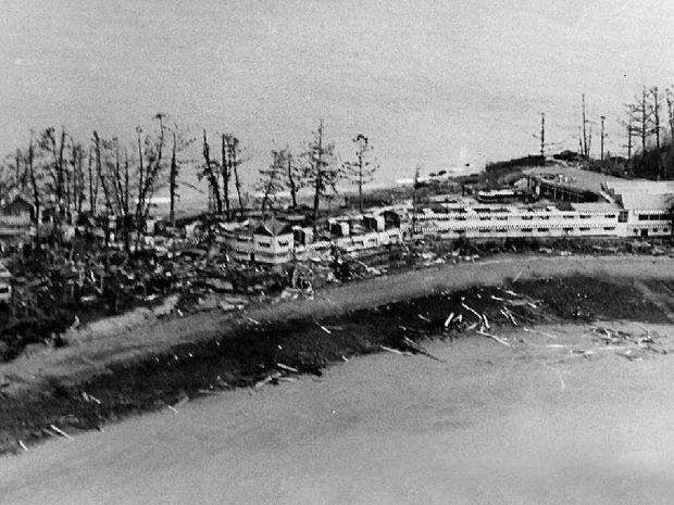 DEVASTATION: Daydream Island after Cyclone Ada struck in January, 1970.