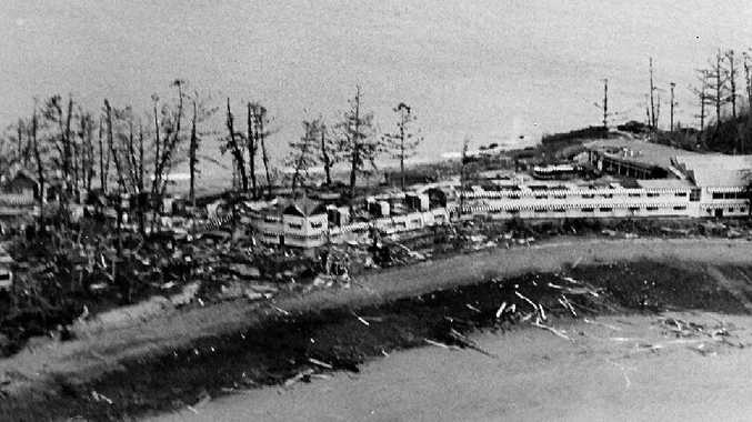 DEVASTATION: Daydream Island after Cyclone Ada struck in January, 1970.