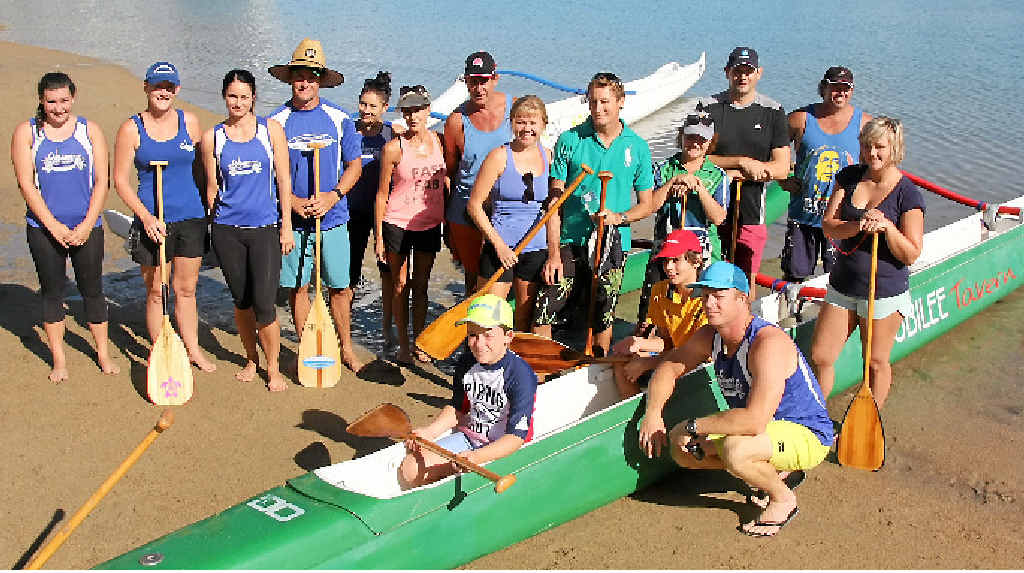 PADDLE PUSHERS: The Whitsunday Outrigger Club is on the lookout for new members.