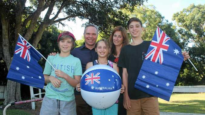 NEW AUSSIES: The Mills family from Alstonville, Rohan, Jem, Hana, Sally and Jevan,will be among 40 people to become Aussies at the Ballina Shire Australia Day ceremony next week.