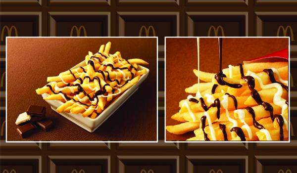 A sneak peek of what the McChoco Potato looks like. Photo / McDonald's