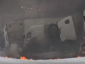 Deadly pileup in early January snowy conditions in the US