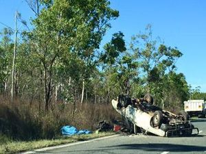 Lucky escape for mum and daughter in Emu Park Road smash