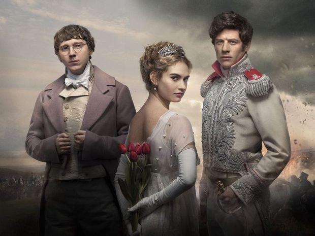 Paul Dano, Lily James and James Norton star in the TV series War and Peace.