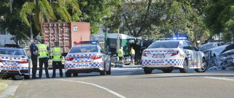 Car v truck at Cobalt Street in Carole Park. Photo Inga Williams / The Queensland Times