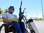 Heartless drivers don't stop to help paraplegic