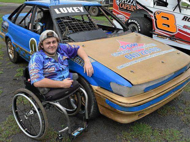 Luke Watt beside #94, his trusty old Toyota Corolla.