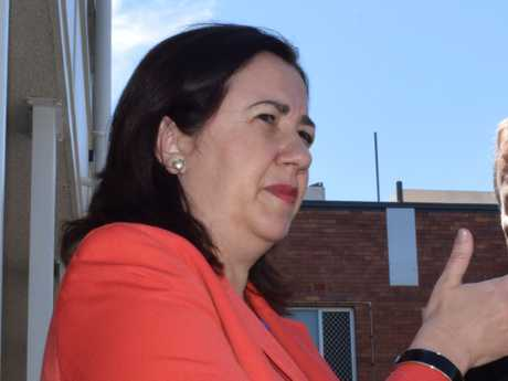 Annastacia Palaszczuk tours the old Roma Hospital, having announced a new one would be built.