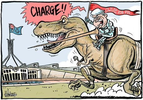Harry Bruce cartoon, Clive Palmer.